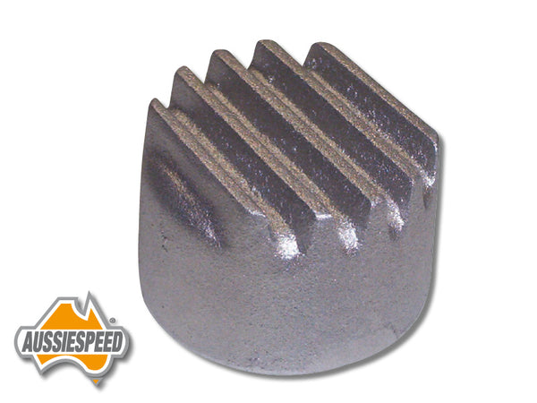 AS0196R Mopar Style Finned Push In Oil Cap Raw