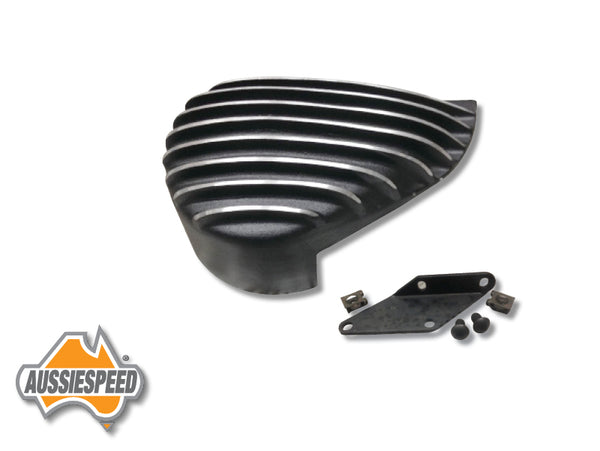 AS0445B-K Deep Finned Mini Bike Clutch Cover Kit Black