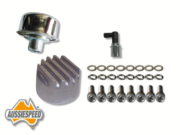 AS0523-0035-SS507-AS0196R Slant 6 Valiant Rocker Cover Bolts Finned Oil Cap Plus PCV Valve Raw