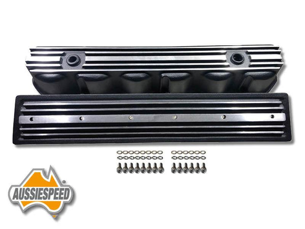 AS0544B-AS0436B Ford 240, 300 3.9 Inline 6 Tall Black Aluminium Valve Cover Side Plate Bolts 4 Piece kit