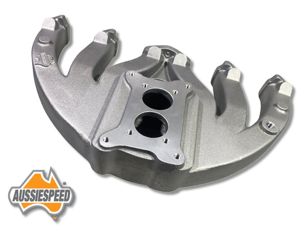 AS0570 Aussiespeed Slant 6 Short 2 Barrel Intake Manifold Holley Weber