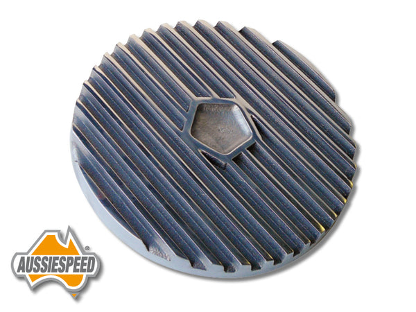 "AS0106P Chrysler 9"" Air Cleaner Lid Finned Aluminium Polished"