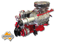 ASBK-0502R-INC142SATIN Supercharger Kit Aussiespeed® 142 Weiand Holden 6 Red Satin