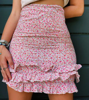 Pretty In Pink Flower Skirt