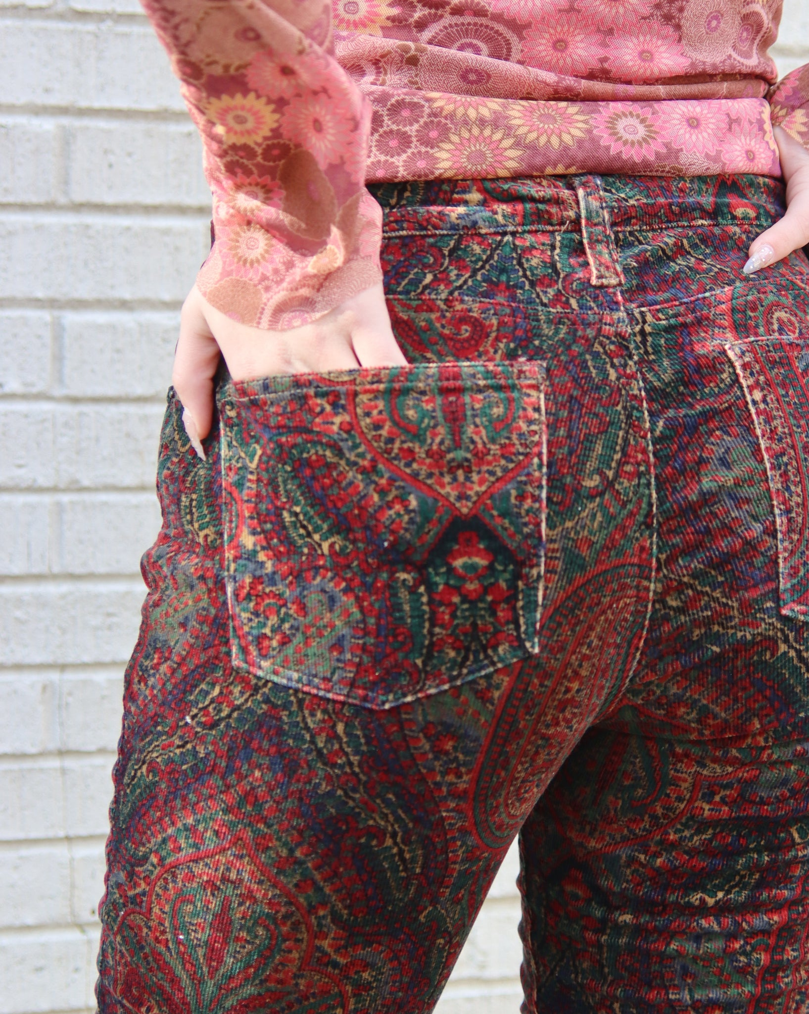 Pretty In Paisley Vintage Pants
