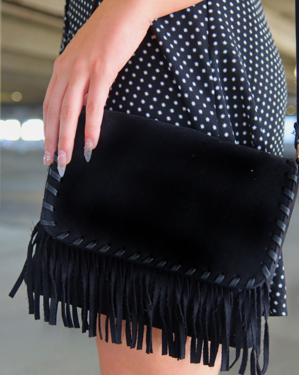 Fringe Baby Shoulder Bag