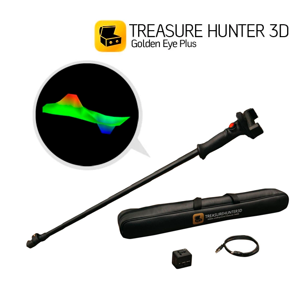 Detector de Metales Treasure Hunter 3D Modelo Golden Eye Plus