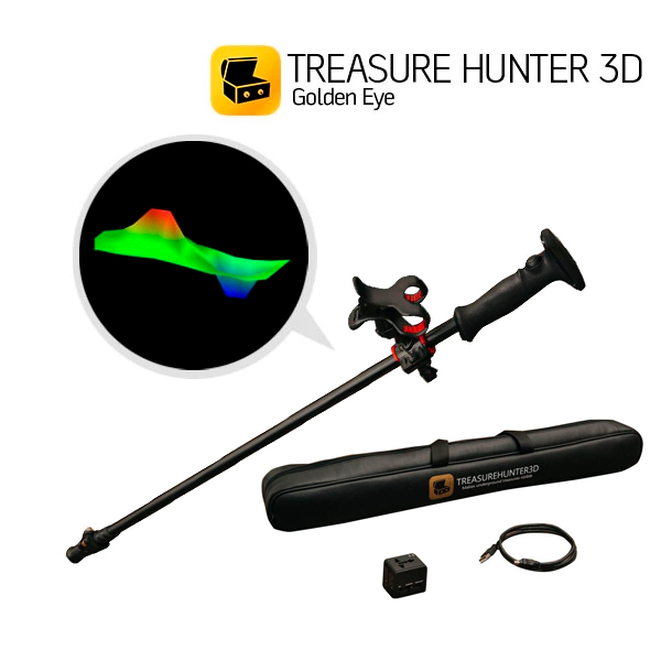 Detector de Metales Treasure Hunter 3D Modelo Golden Eye