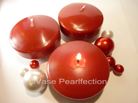 No Hole Burgundy Pearls - Jumbo/Assorted Sizes Vase Decorations