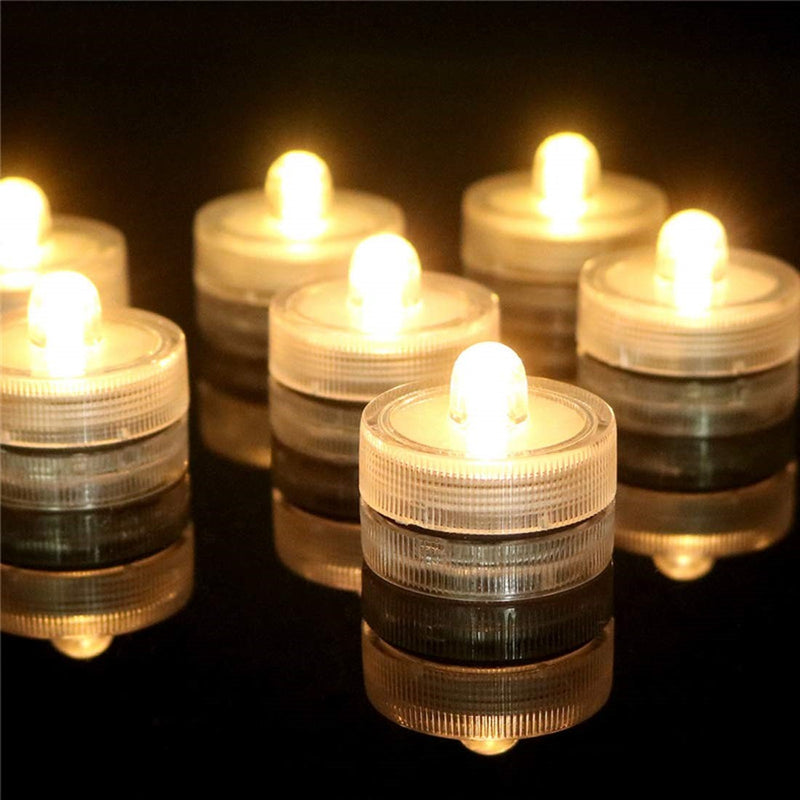 Realistic Flicker Warm White Submersible Led Tea Light