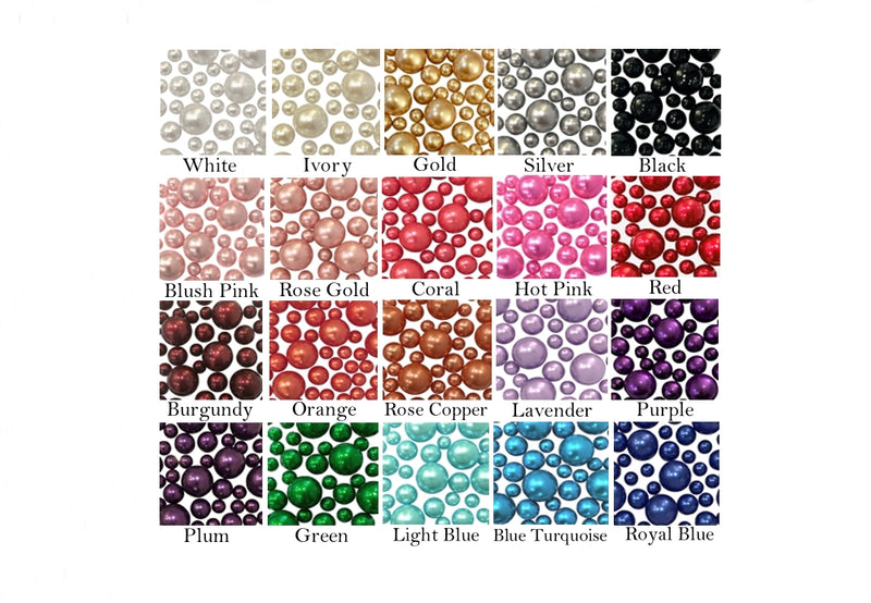 Custom Sample Pack of Pearls, Gems and Floating Gels of Your Choice