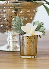 Gold Mercury Glass Votive & Tea Light Candle Holder