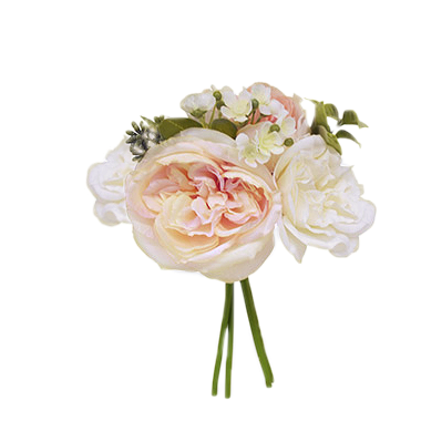 Gorgeous Spring Rose Bouquet - Ivory, Blush & Peach