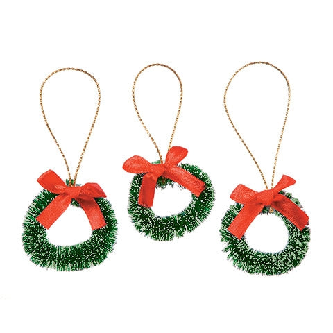 Miniature Sisal Wreaths Ornaments