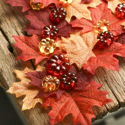 Shades of Fall Leaves, Pearls & Sparkling Gems - Jumbo/Assorted Sizes Vase Decorations & Table Scatter