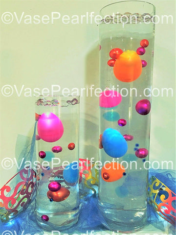 DIY 25 Floating Easter Eggs with Pearls & Gems Vase Decorations- Including the Transparent Water Gels