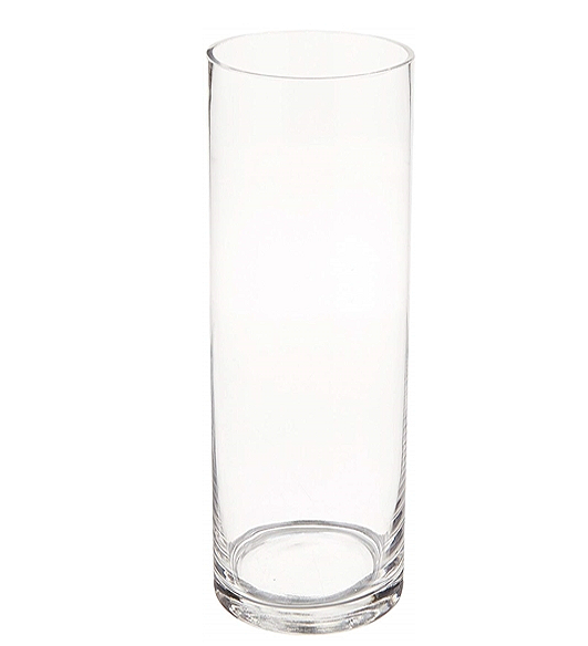 "Clear Glass Cylinder Vase (11.5"" x 4"")"