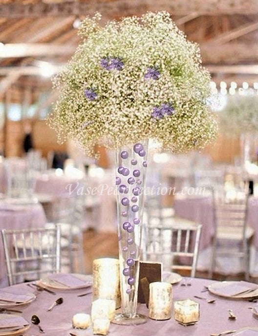 Lavender Pearls - No Hole Jumbo/Assorted Sizes Vase Decorations