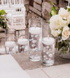 120 Floating Ivory & White Pearls w/ Gems Accents - No Hole Jumbo/Assorted Sizes Vase Decorations and Table Scatters