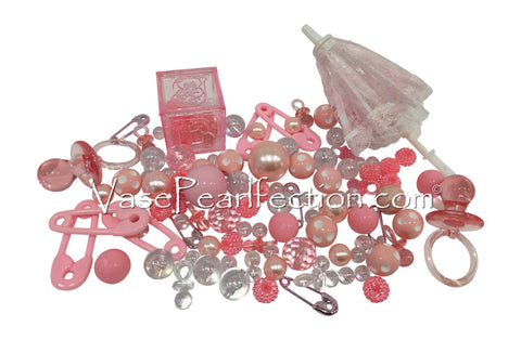 Rose Gold Pearls (iPhone Pink) - No Hole Jumbo/Assorted Sizes Vase Decorations
