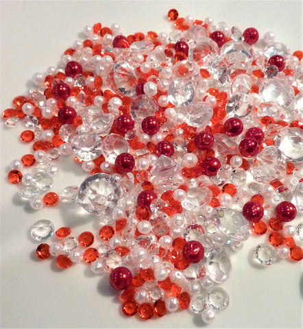 *Clearance* Round Faceted Purple (Bright Lavender) Gems - 1 Pound Bag - Vase Decorations and Table Scatter