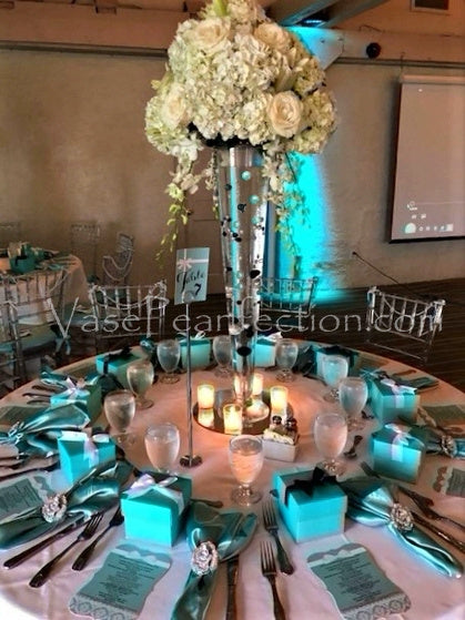 Tiffany Blue Pearls - No Hole Jumbo & Assorted Sizes Vase Decorations