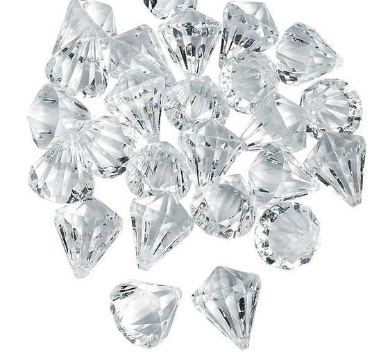 "*Clearance* Large Crystal Gems - 1"" - 1 Pound Bag - Vase Decorations and Table Scatter"