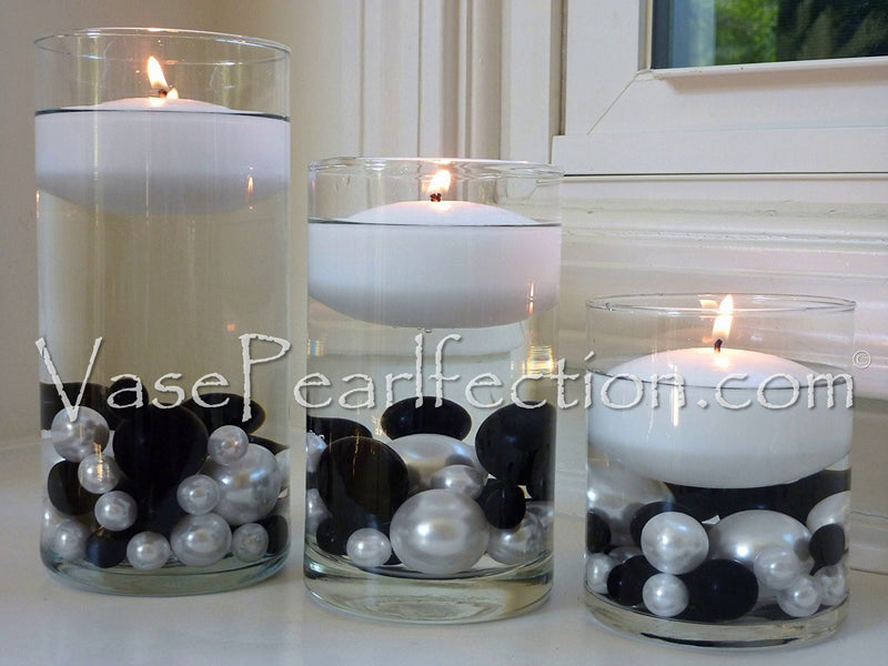 Royal Blue (Light Navy) Pearls- No Hole Jumbo/Assorted Sizes Vase Decorations