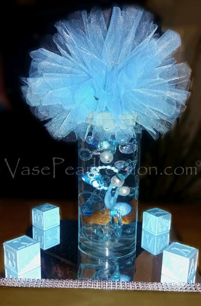 100 Floating Neutral Baby Shower Pearls And Gems Vase Fillers Vase Pearlfection