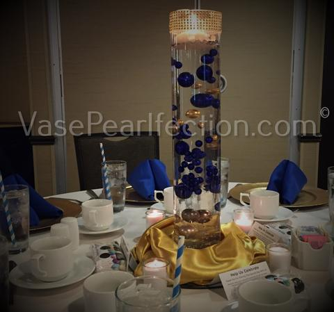 Gold Pearls - No Hole Jumbo/Assorted Sizes Vase Decorations