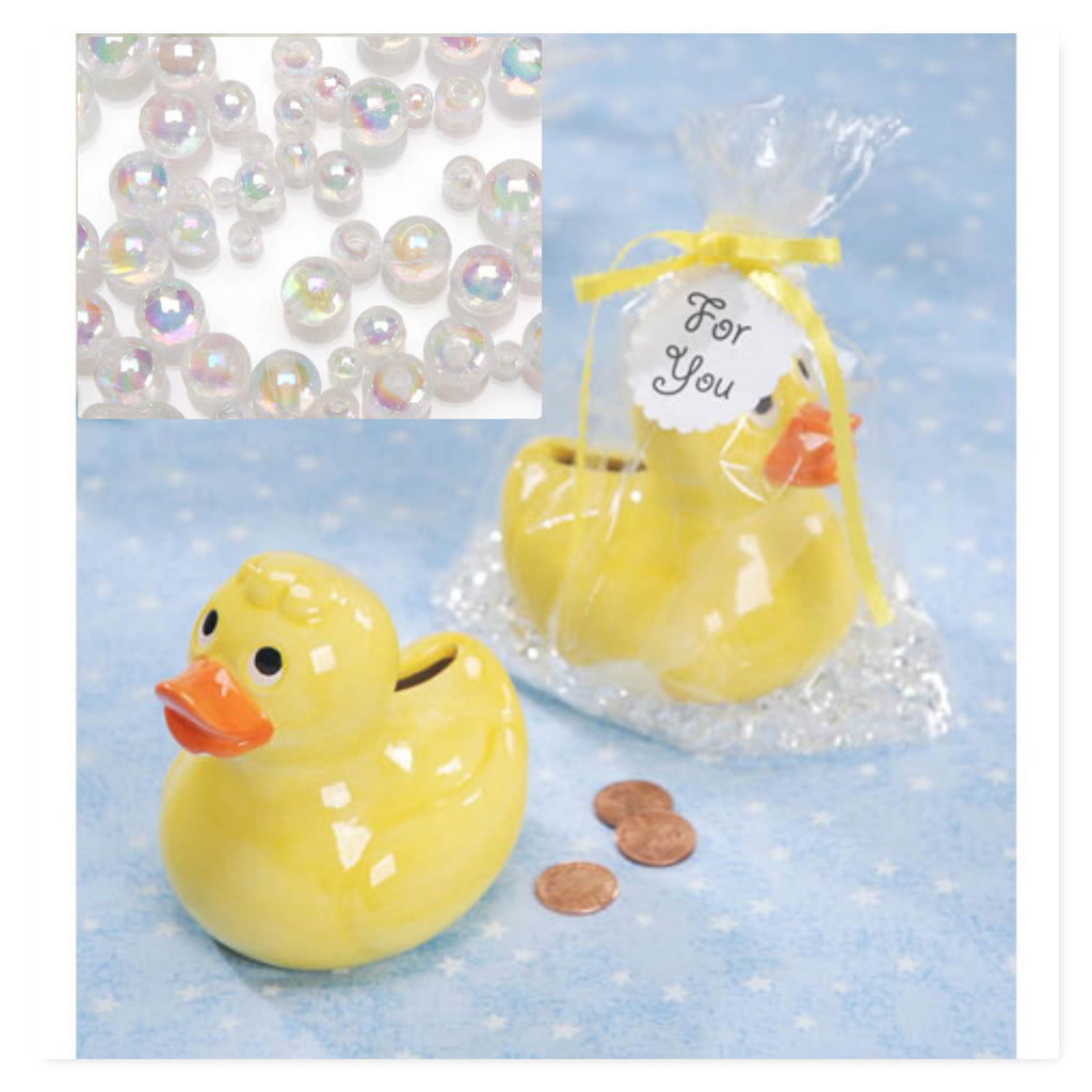 *Clearance* 2 Ceramic Duck Banks - Baby Shower Decorations and Party Favors