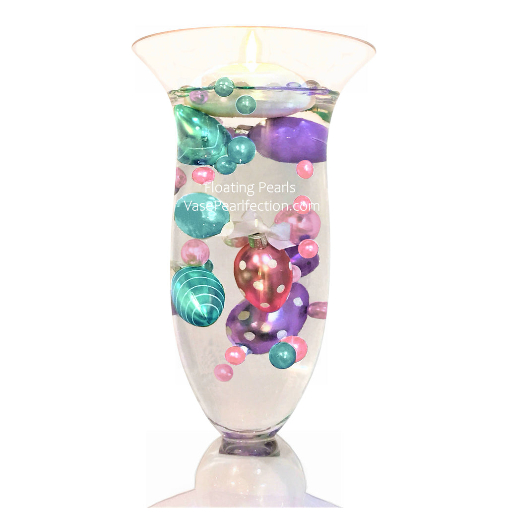 Floating Easter Eggs & Pearls - Jumbo & Assorted Sizes Vase Decorations & Table Scatter