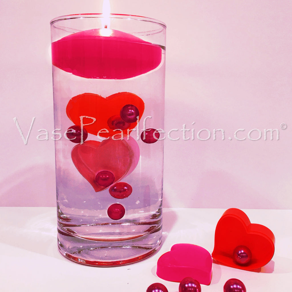 Floating Hearts, Pearls & Sparkling Gems Vase Fillers Vase Decorations