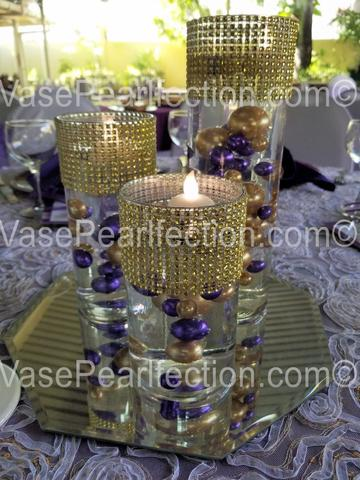Purple Pearls - No Hole Jumbo/Assorted Sizes Vase Decorations