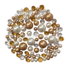 120 Gold & White Pearls with Matching Gem Accents - No Hole Jumbo/Assorted Sizes Vase Decorations and Table Scatters