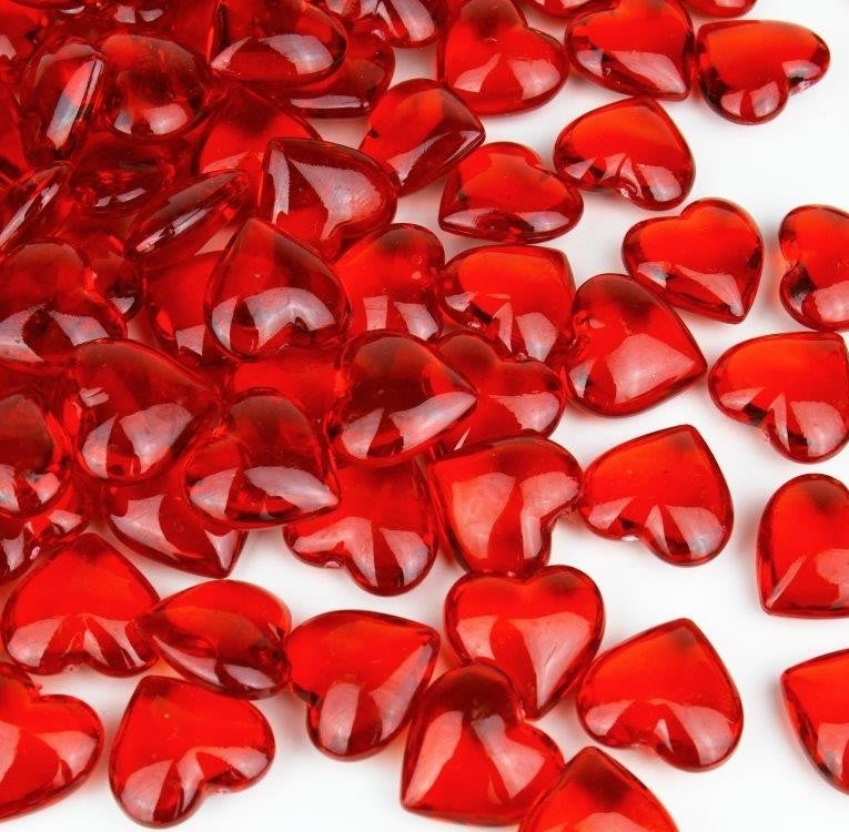 Red Hearts Table Scatter - 95 pc