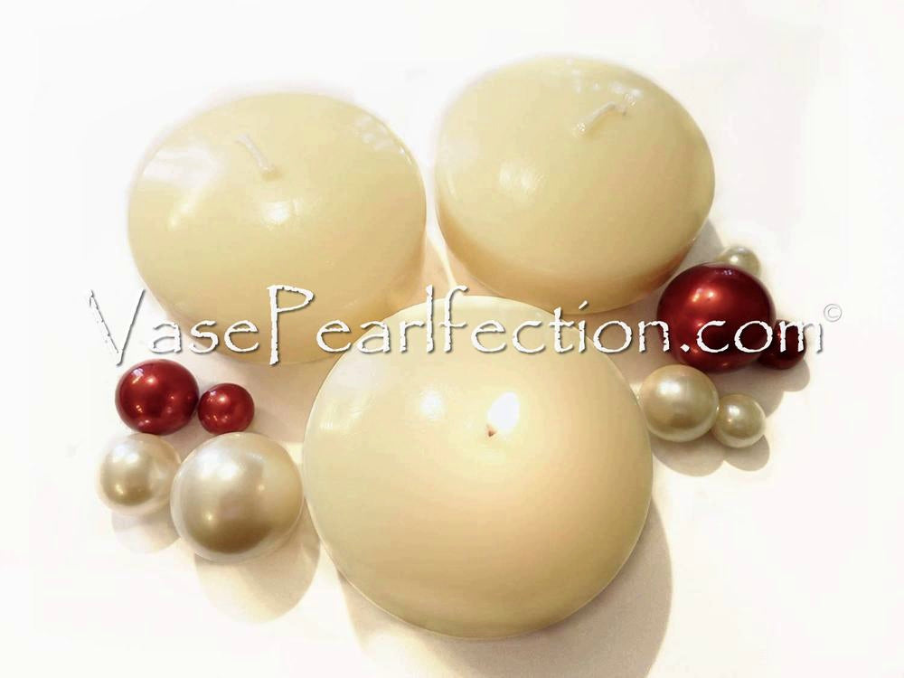 "3.25"" Floating Candles. Set of 3 Candles-Unscented"