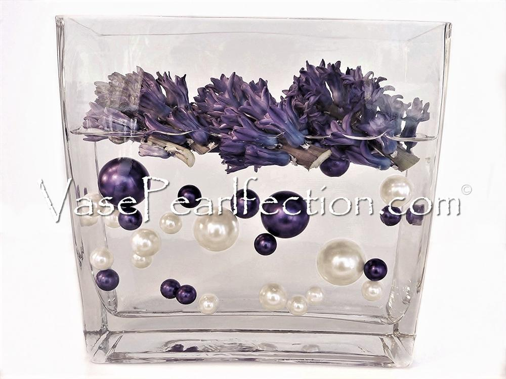 Floating Plum Pearls - No Hole Jumbo/Assorted Sizes Vase Decorations