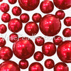 120 No Hole Red, White, and Blue Pearls - Jumbo & Assorted Sizes Vase Decorations