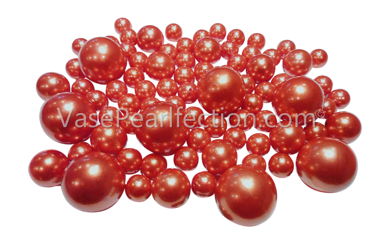 Orange Pearls - Jumbo/Assorted Sizes Vase Decorations