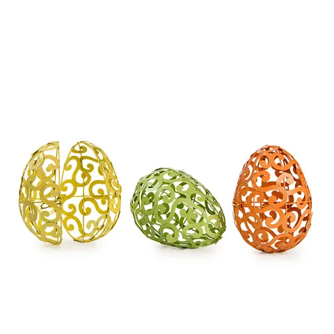 Pastel Scroll Glitter Egg - X Jumbo - For Easter Decorations