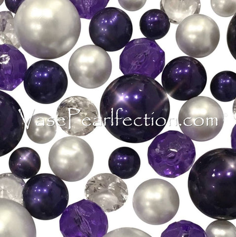 No Hole Purple Pearls - Jumbo/Assorted Sizes Vase Decorations