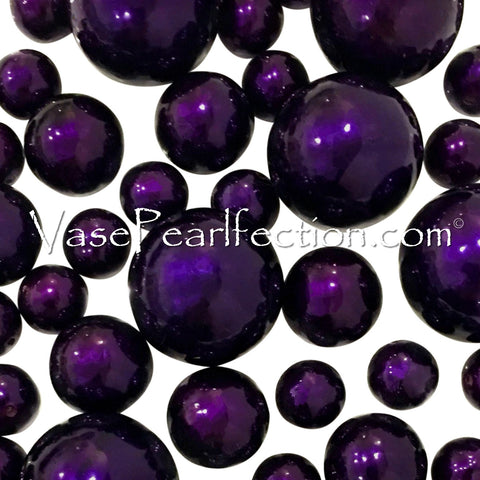 *Clearance* Plum Pearls - Jumbo/Assorted Sizes Vase Decorations