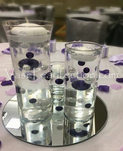 *Clearance* Purple (Bright Lavender) Sparkling Gems - Jumbo & Large Sizes Vase Decorations and Table Scatter