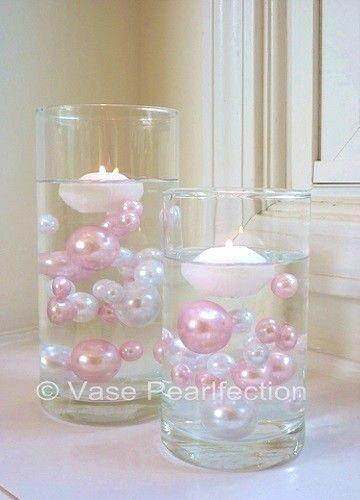 100 Floating Pink Baby Shower - Jumbo/Assorted Sizes Vase Fillers for Decorating Centerpieces
