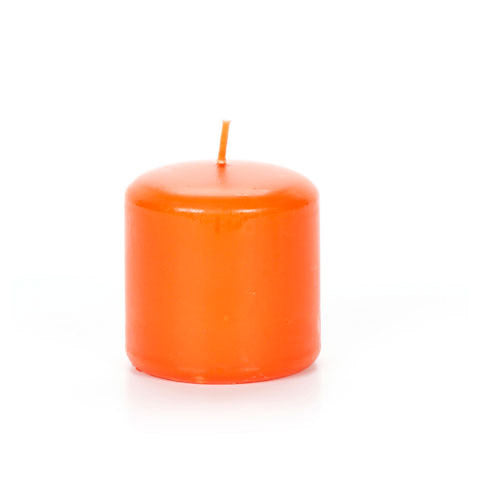 "2.8"" Orange Pillar Candles - Pumpkin Scented"