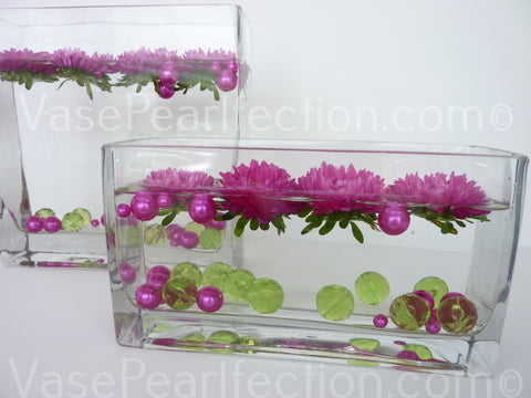 Bouquet Of Red And Pink Pearl Vase Fillers And Gems Vase Pearlfection