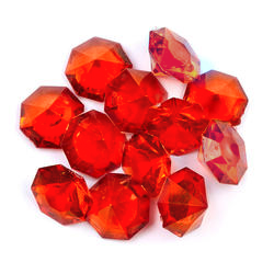*CLEARANCE* 1 LB. Red Sparkling Diamond Gems - Jumbo Vase Decorations and Table Scatter