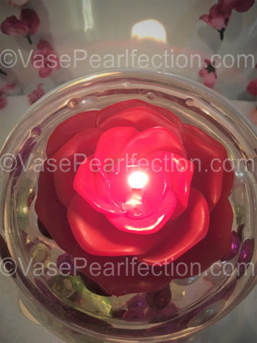 Orange Submersible LED Tea Lights - Waterproof