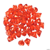 *CLEARANCE* 1 LB. Orange Sparkling Diamond Gems - Jumbo Vase Decorations and Table Scatter